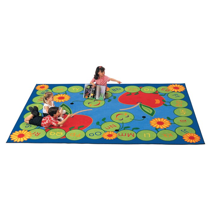 Carpets For Kids Literacy Abc Caterpillar Area Rug