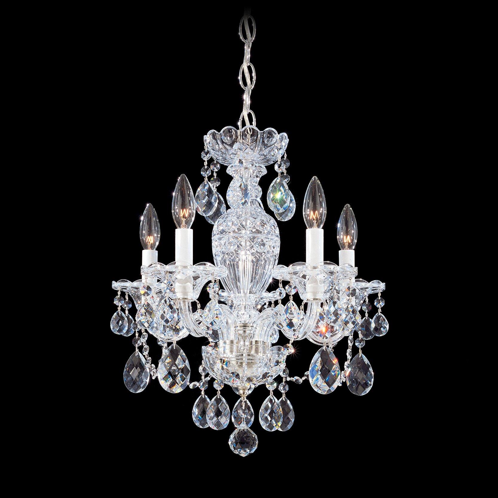 Schonbek Sterling 5Light Crystal Chandelier Reviews – Crystal Chandelier Lights
