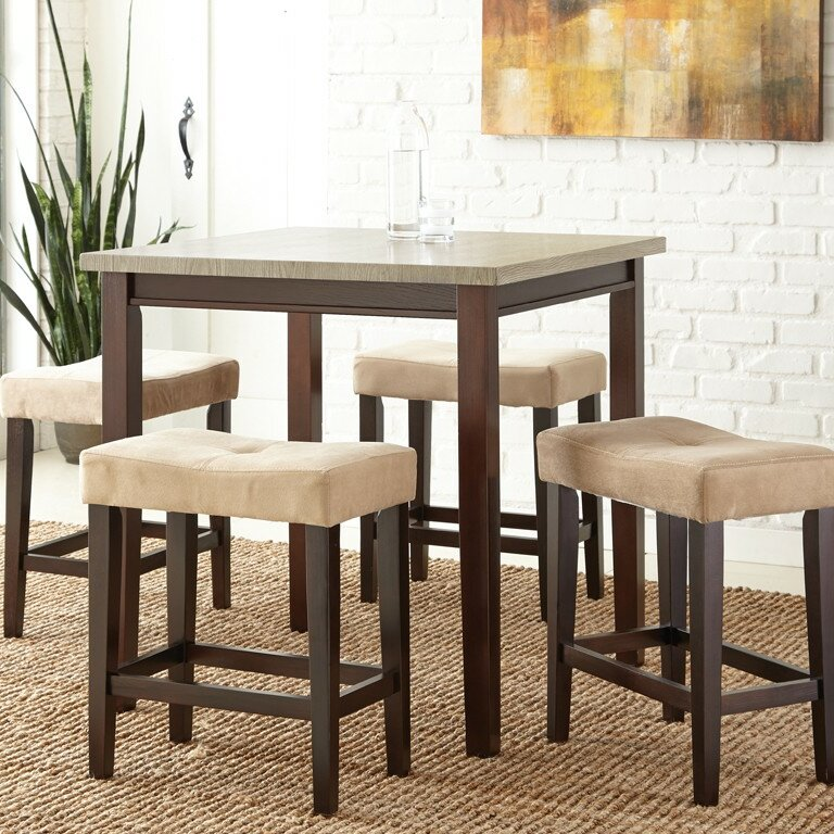 Steve Silver Furniture Aberdeen 5 Piece Counter Height Dining Set ...