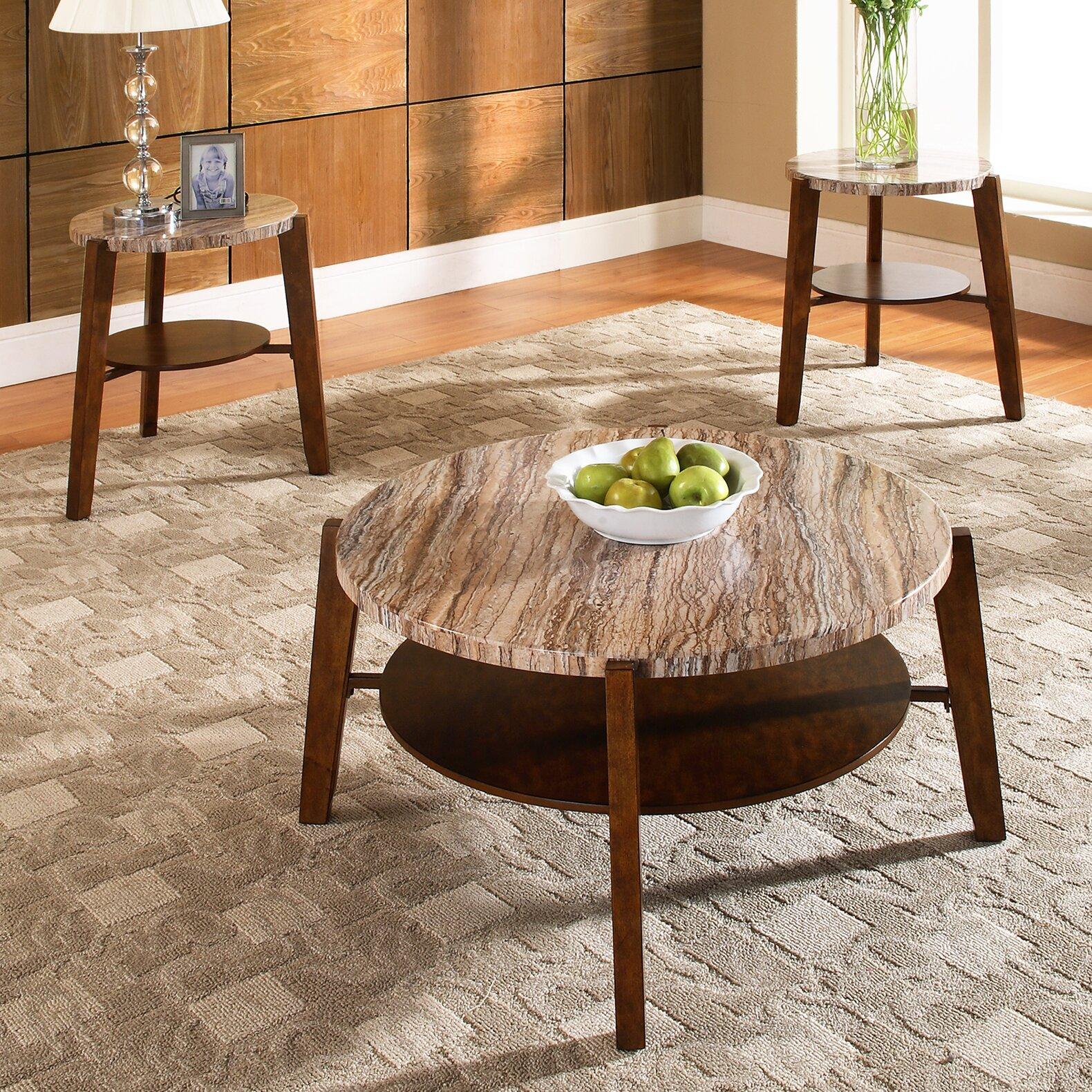 Coffee Table Set Of 3 Steve Silver Furniture Tivoli 3 Piece Coffee Table Set Reviews