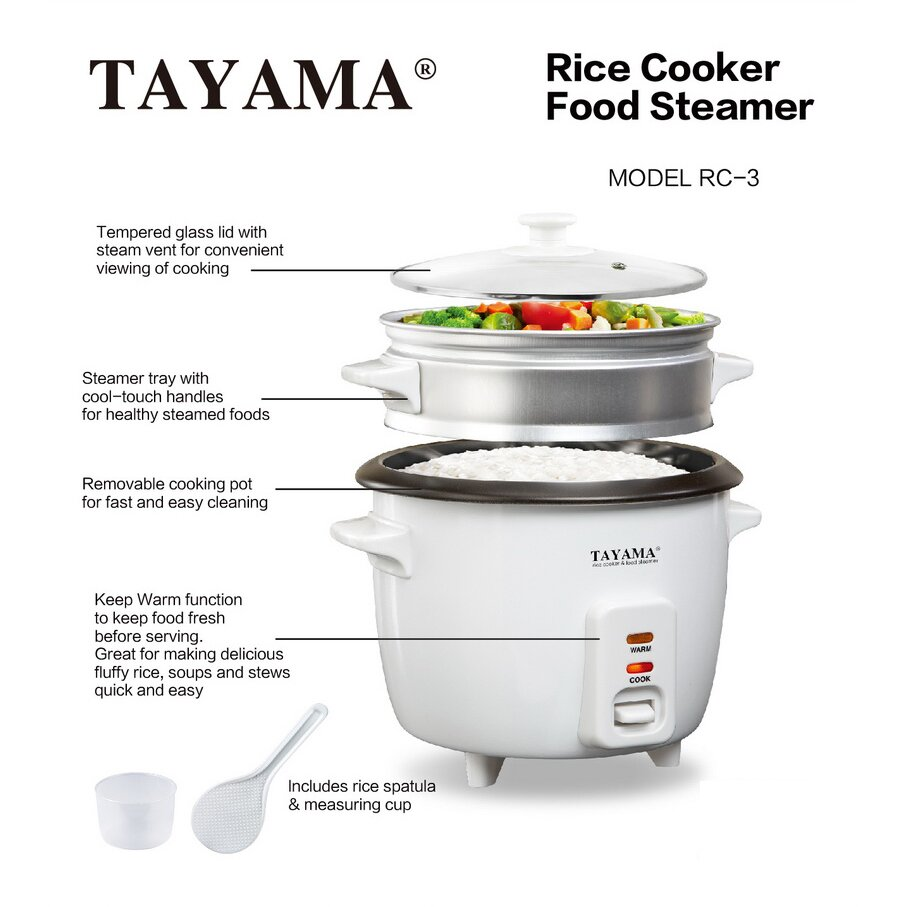 Tayama 1quart Rice Cooker With Steam Tray Tayama 1quart Rice Cooker With  Steam Tray & Reviews How To Cook Quinoa