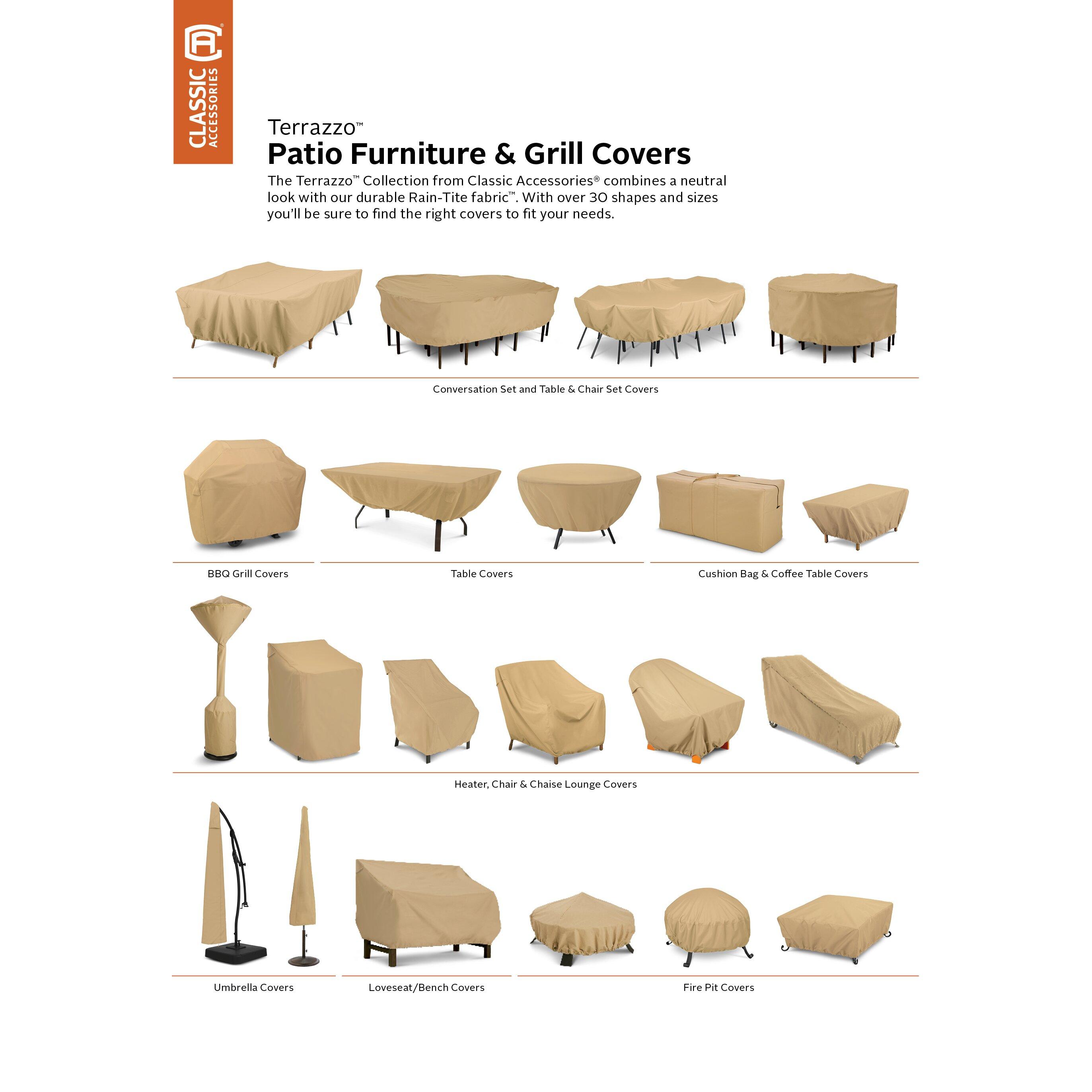 Clic Accessories Terrazzo Stackable Patio Chair Cover