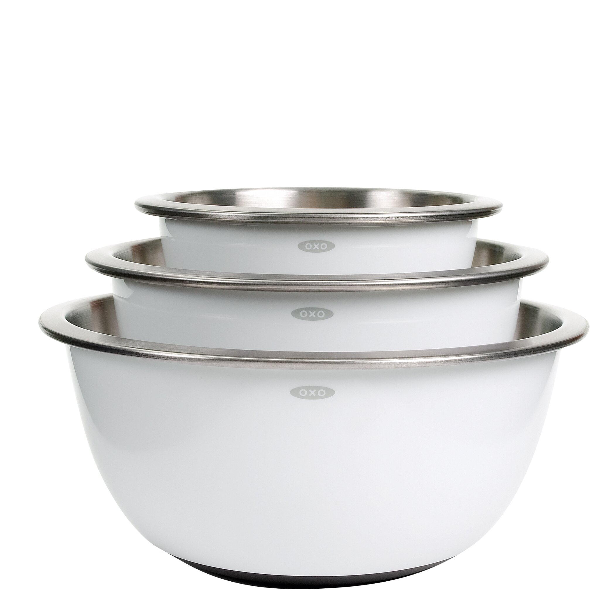 Cuisinart stainless steel mixing bowls with lids - Oxo Good Grips 3 Piece Stainless Steel Mixing Bowl Set