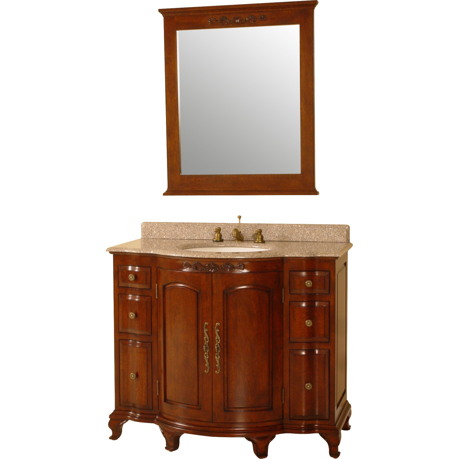 Royal Teak by Lanza Products 42 quot  Single Bathroom Vanity Set. Royal Teak 42  Single Bathroom Vanity Set   Reviews   Wayfair