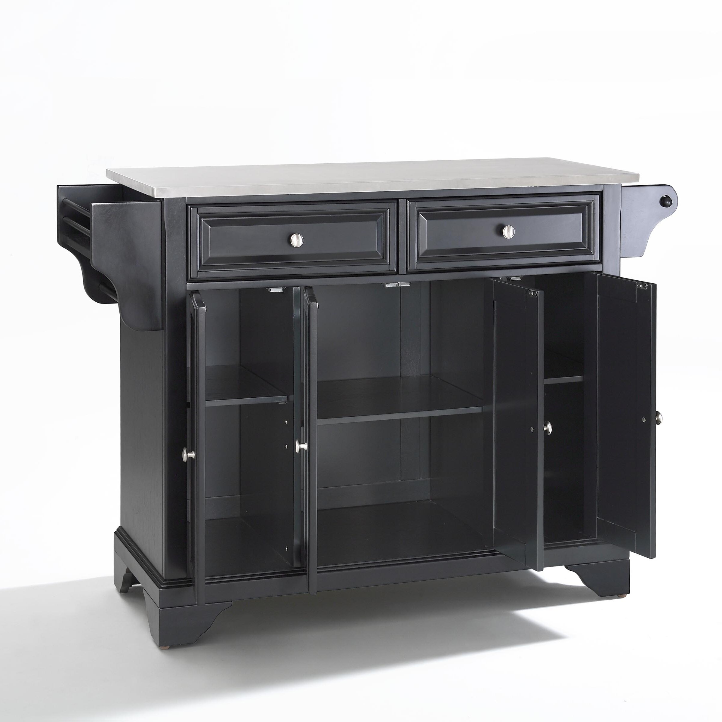 Crosley LaFayette Kitchen Island with Stainless Steel Top