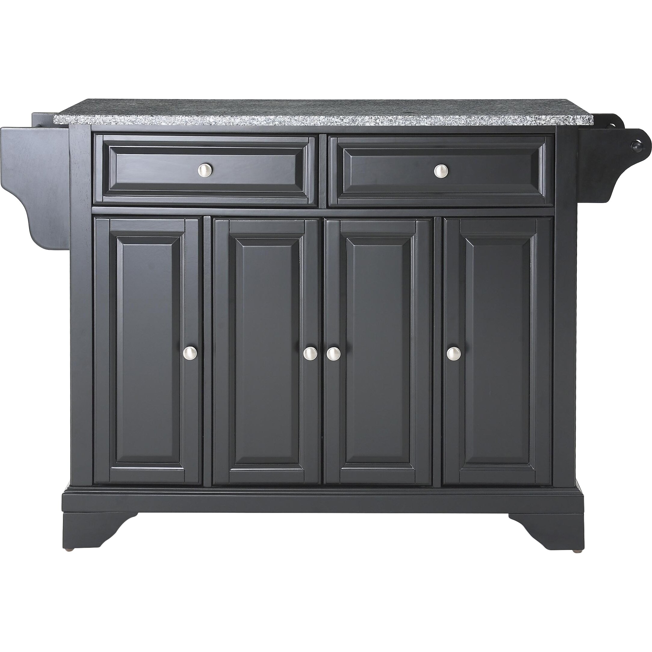 crosley lafayette kitchen island with granite top & reviews | wayfair