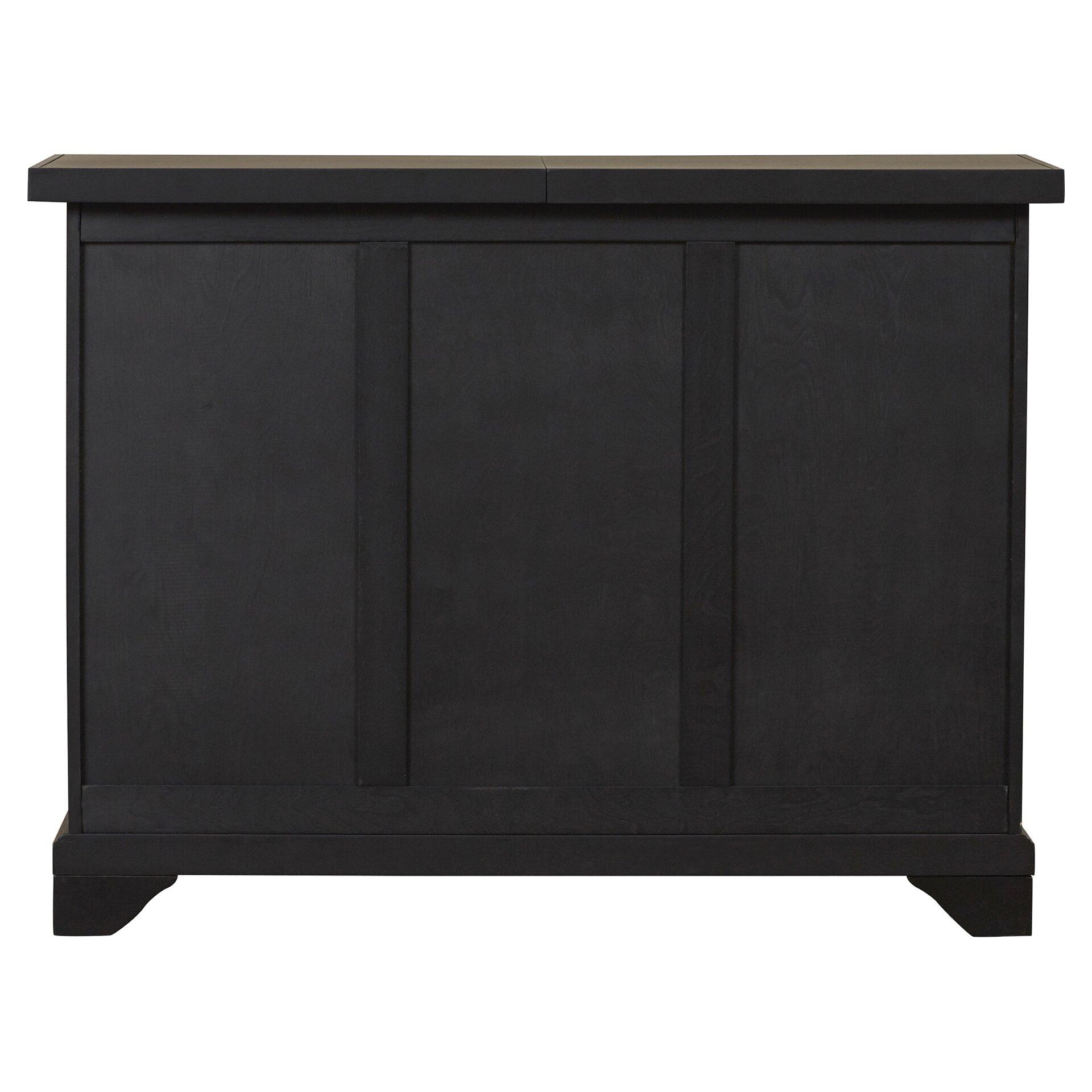 Crosley Lafayette Sliding Top Bar Cabinet Amp Reviews Wayfair