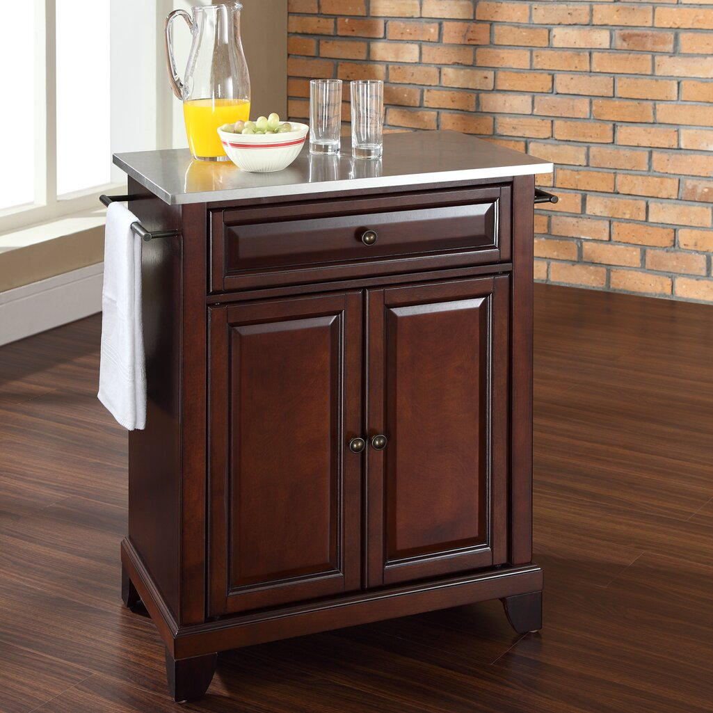 kitchen cart with stainless steel top u2013 laptoptablets us