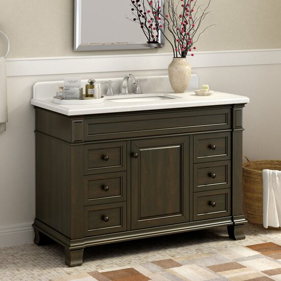 "lanza kingsley "" single bathroom vanity set  reviews  wayfair, Bathroom decor"