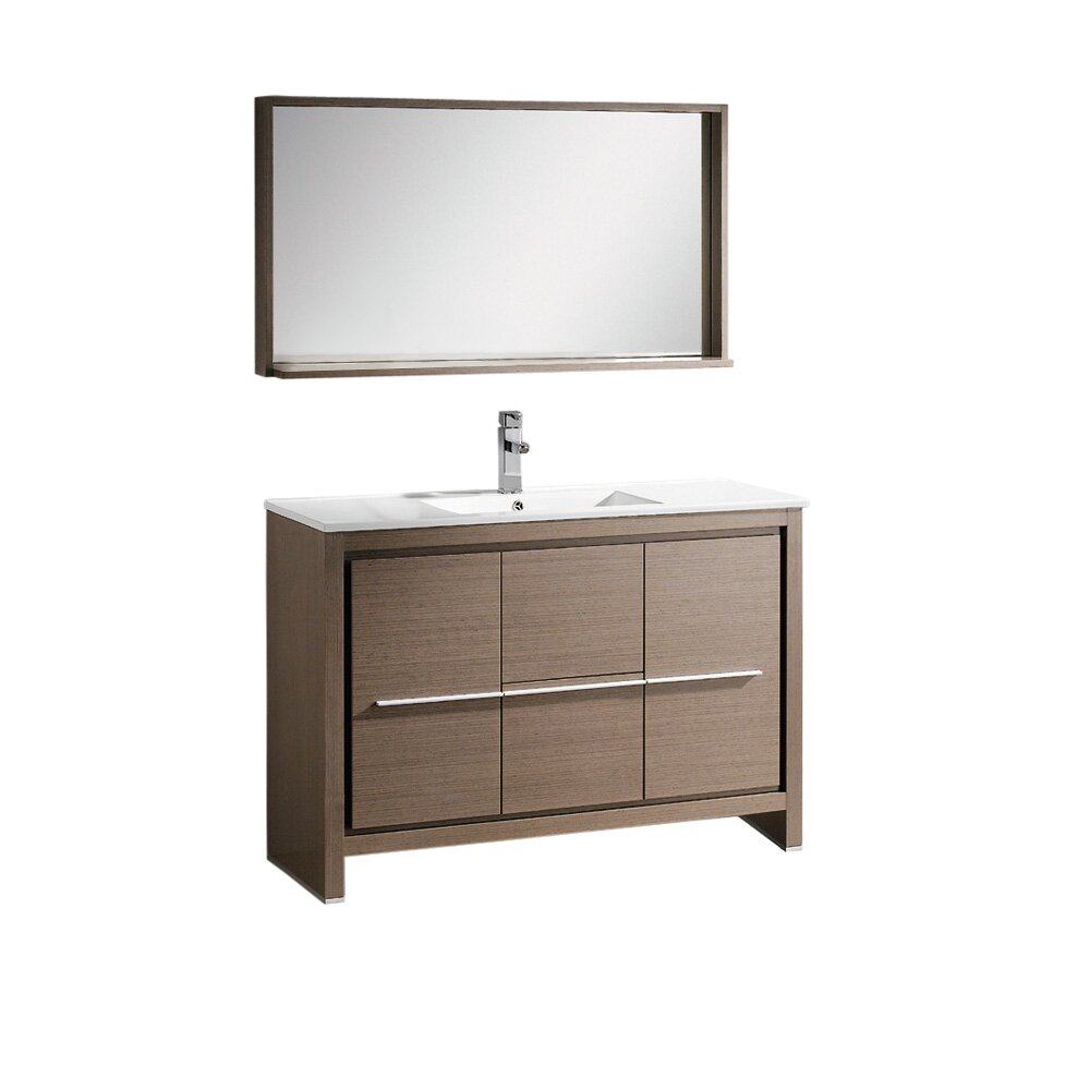 modern bathroom vanity mirror fresca allier 48 quot single modern bathroom vanity set with 19601