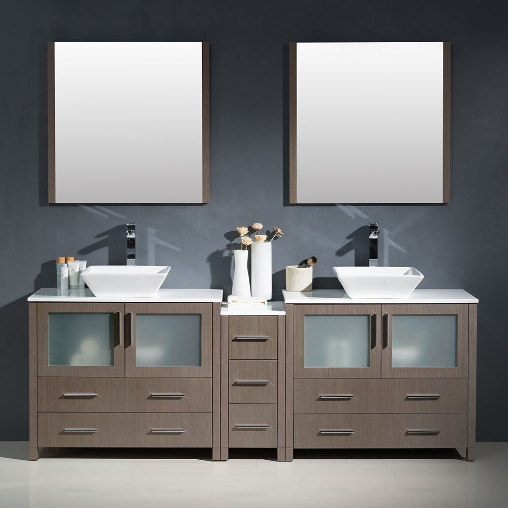 Fresca Torino 84 Double Modern Bathroom Vanity Set With Mirror Reviews