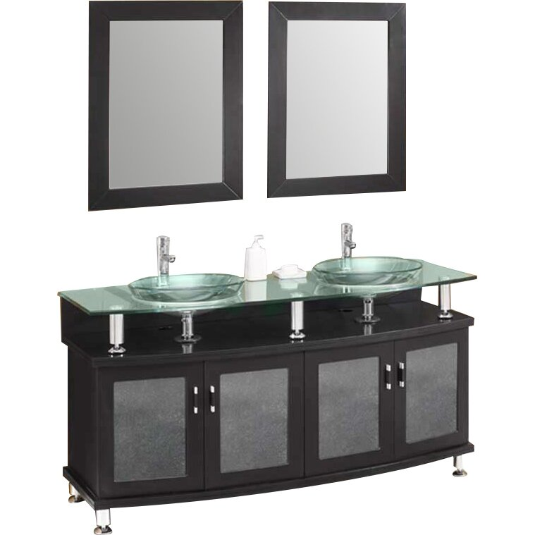 double sink bathroom vanity set with mirrors reviews