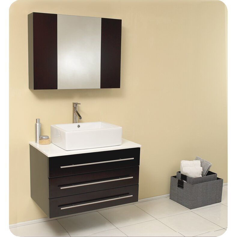 32 Single Modello Modern Bathroom Vanity Set With Mirror By Fresca