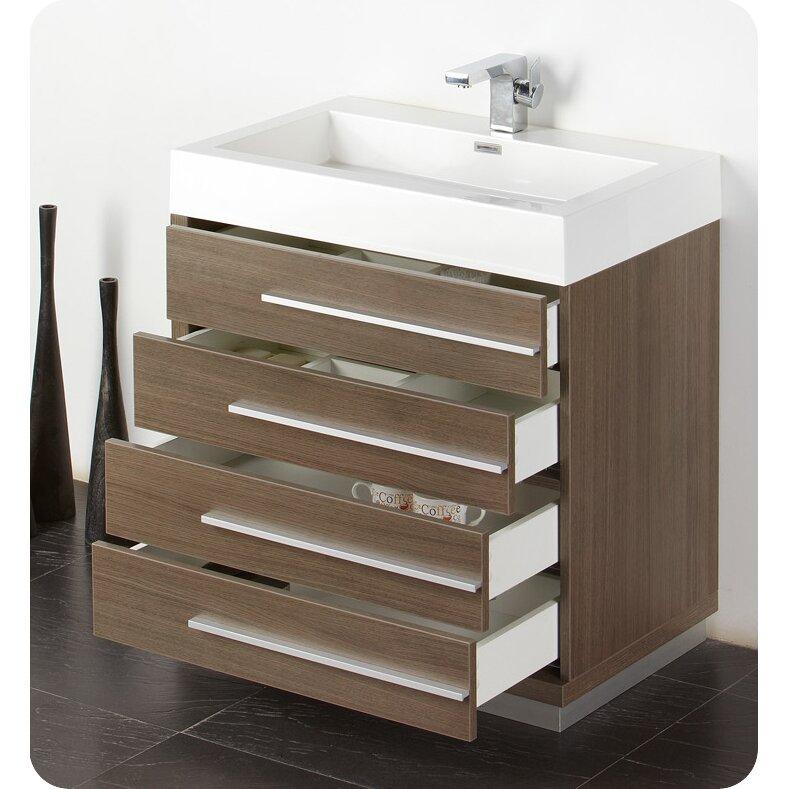 "fresca senza "" single livello modern bathroom vanity set, Bathroom decor"