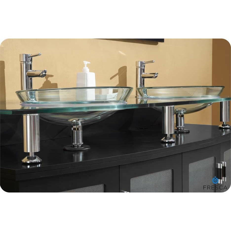 Fresca Classico Contento 60 Modern Double Sink Bathroom Vanity Set With Mirrors Reviews
