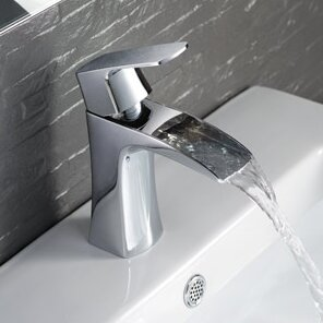 fresca fortore single handle deck mount vanity faucet. Black Bedroom Furniture Sets. Home Design Ideas