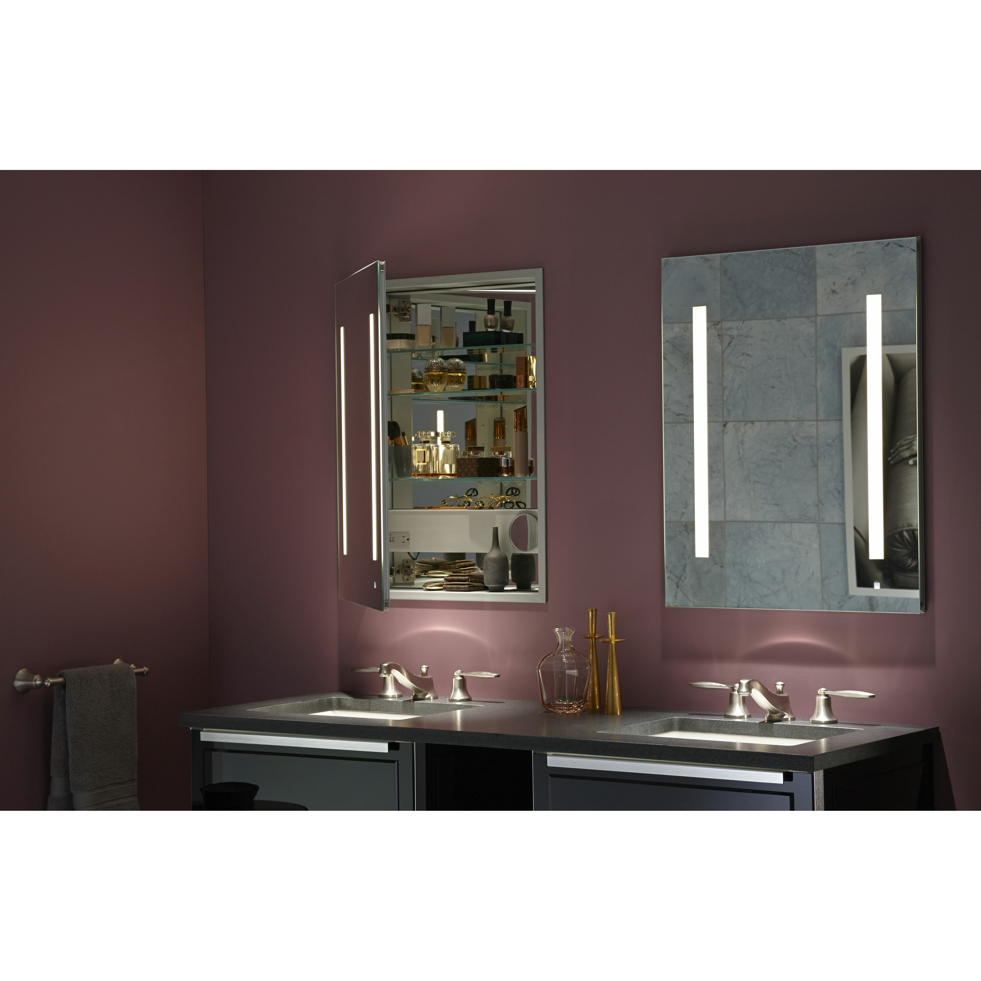 robern aio 24 x 30 mirrored wall mounted medicine cabinet reviews. Black Bedroom Furniture Sets. Home Design Ideas