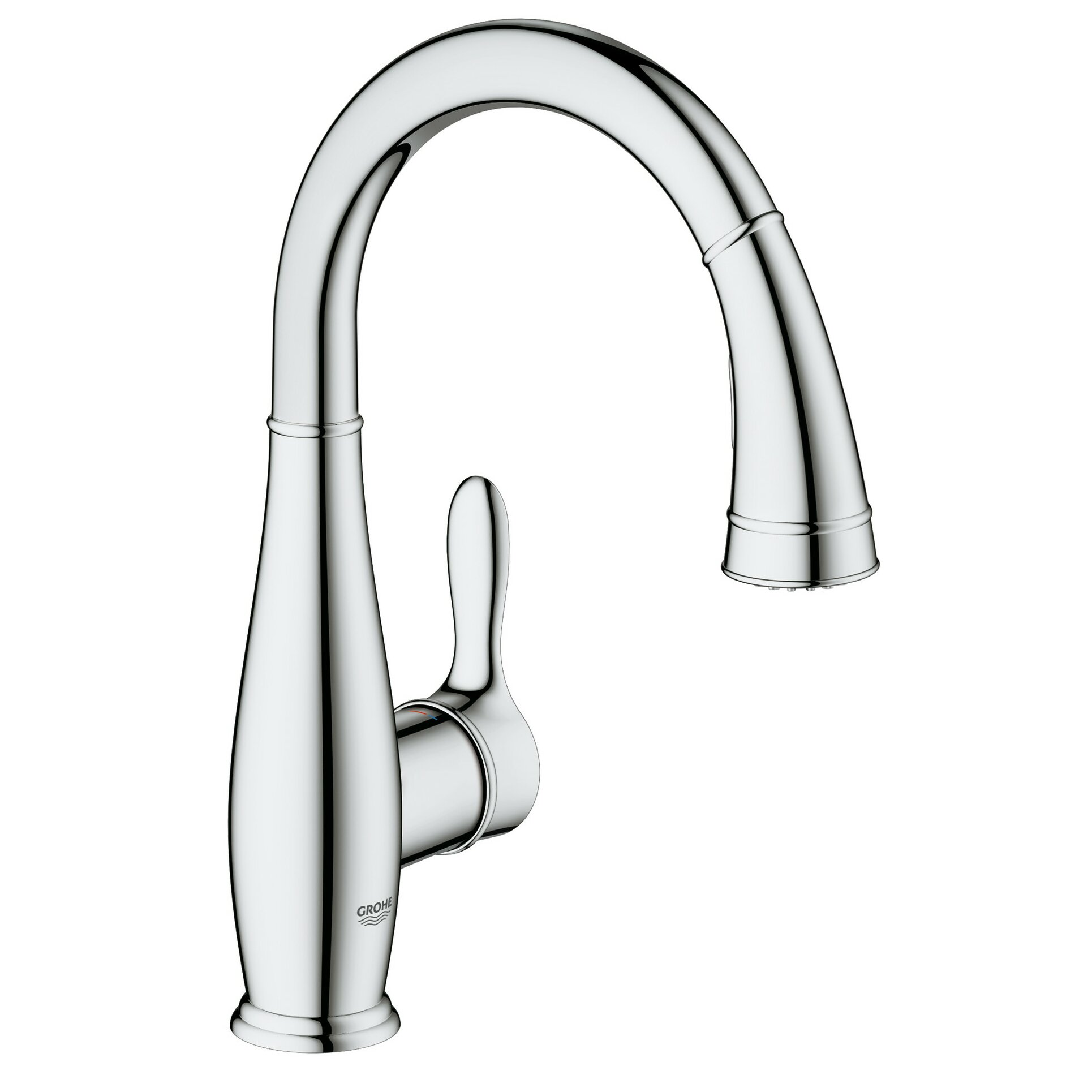 Grohe Parkfield Single Handle Deck Mount Kitchen Faucet with Dual Spray Pull Down