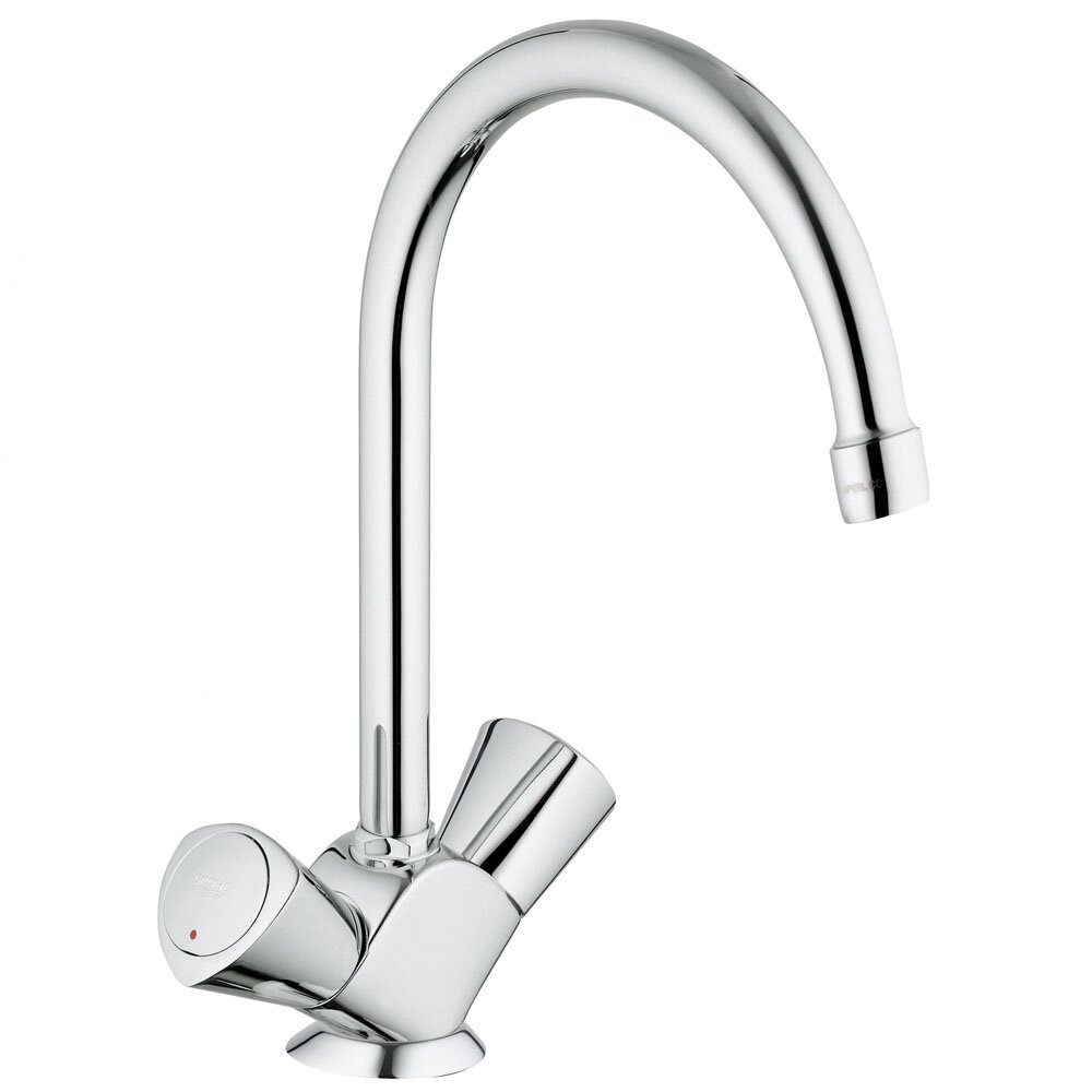 Double Handle Kitchen Faucet Grohe Classic Ii Double Handle Single Hole Standard Kitchen Faucet