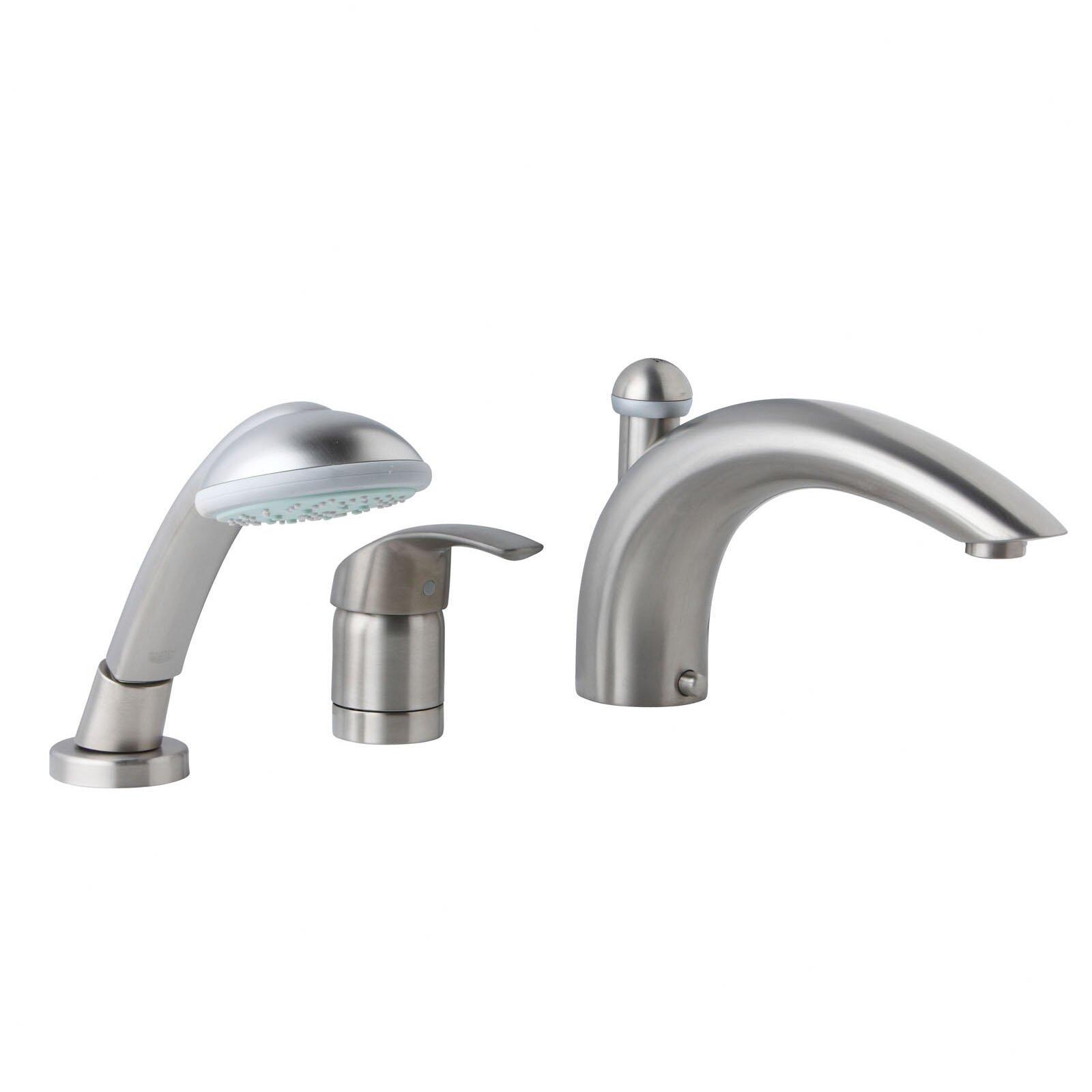Grohe Eurosmart Single Handle Deck mounted Roman Tub Faucet with ... - Grohe Eurosmart Single Handle Deck mounted Roman Tub Faucet with Hand Shower