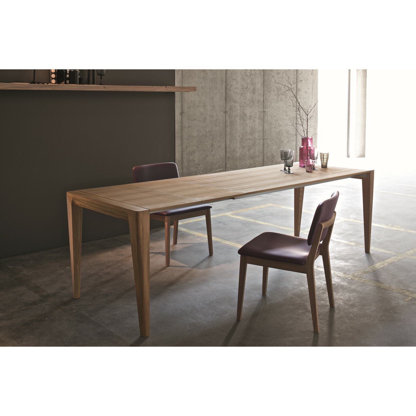 Retro Extending Dining Table Retro Extendable Dining Table Reviews Allmodern