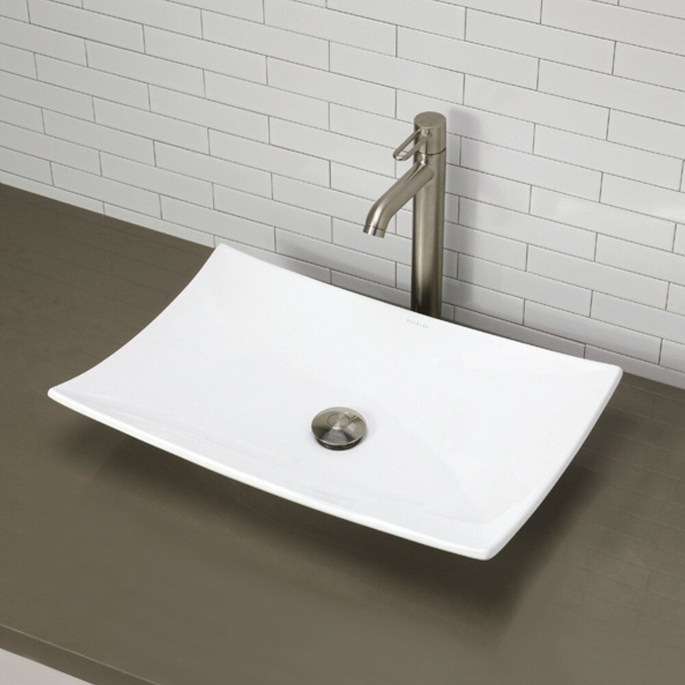 Rectangular Bathroom Sinks Classically Redefined Rectangular Vessel Bathroom Sink Reviews