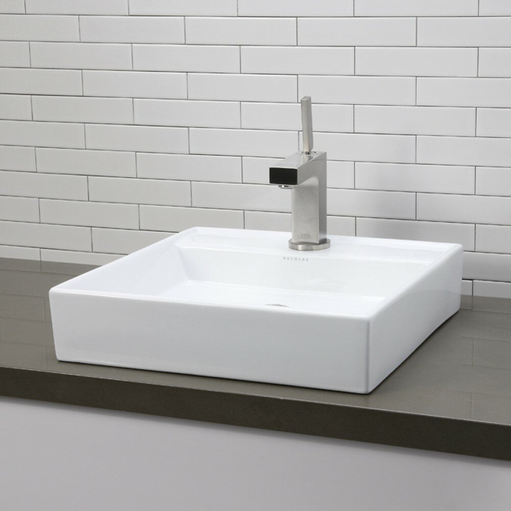 Square bathroom sinks - Decolav Classically Redefined Square Vessel Bathroom Sink