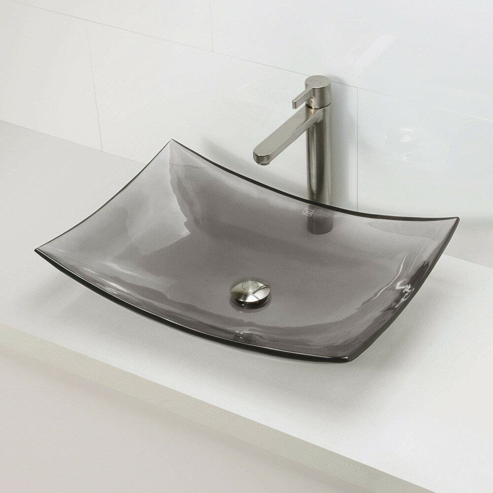 Rectangular Bathroom Sinks Decolav Incandescence Rectangular Vessel Bathroom Sink Reviews