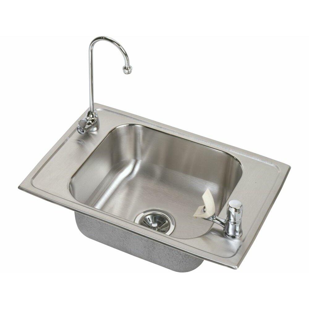 Elkay Kitchen Faucet Parts Elkay Celebrity 25 X 17 Classroom Kitchen Sink With Faucet Wayfair