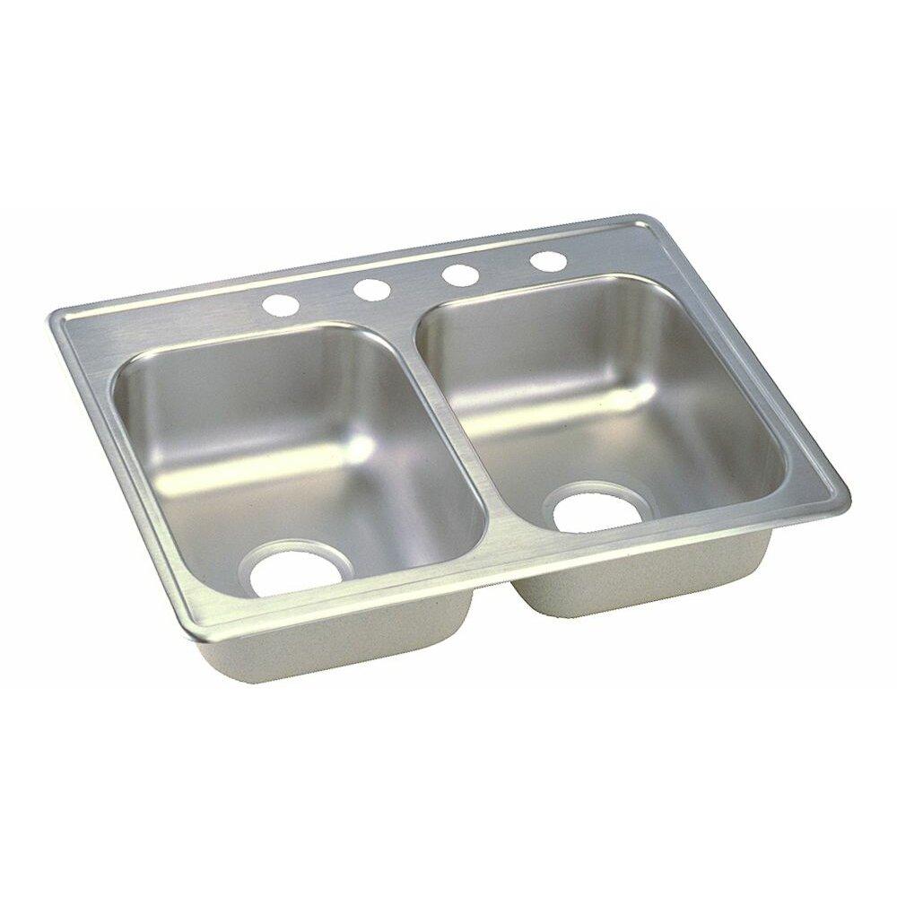 marvelous Dayton Kitchen Sink #1: Elkay Dayton 25u0026quot; x 19u0026quot; Top Mount Double ...