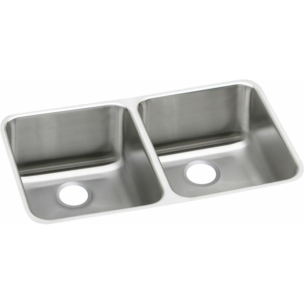 White Kitchen Sink Undermount Elkay Lustertone 3075 X 185 Double Bowl Undermount Kitchen