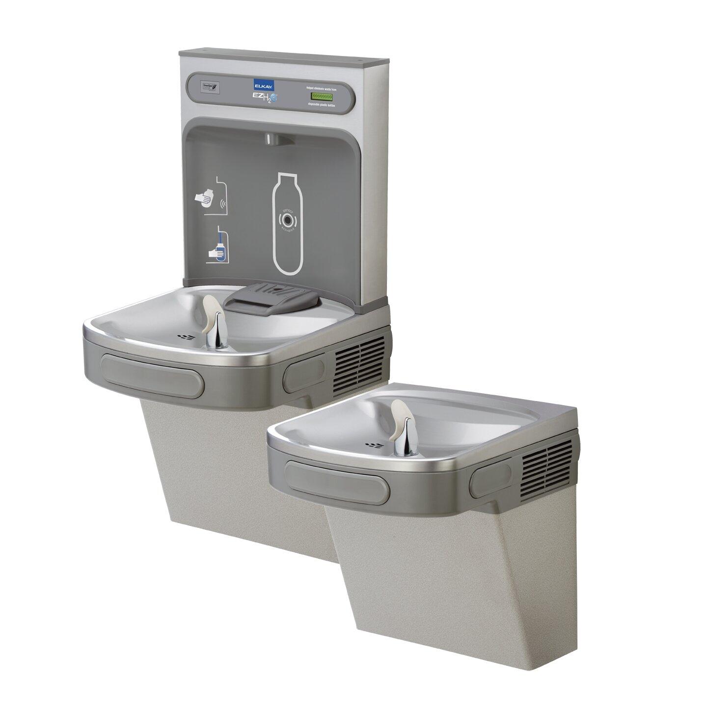 Ada Compliant Bathroom Vanity Elkay Ezh2o Ada Compliant 2 Station Drinking Fountain With Bottle