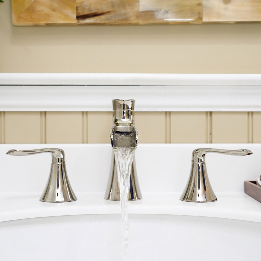Bathroom Faucet Fixtures #32: Speakman Caspian Double Handle Widespread Bathroom Faucet