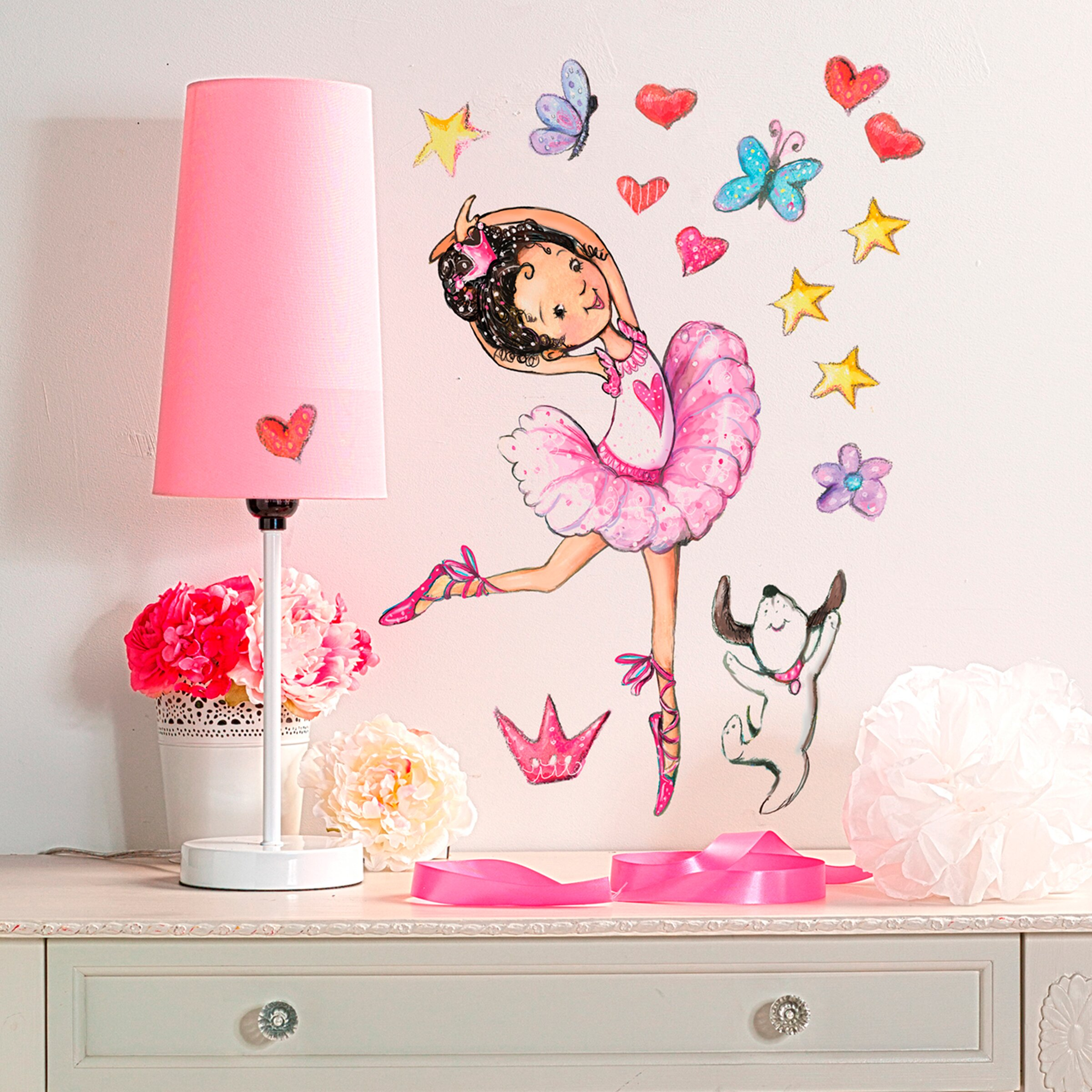 Wall decals next day delivery color the walls of your house wall decals next day delivery wallies ballerina wall decal wayfair amipublicfo Gallery