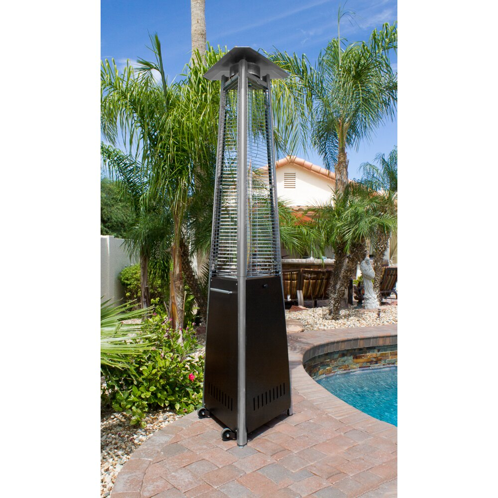 AZ Patio Heaters Commercial Glass Tube 38,000 BTU Propane Patio Heater - AZ Patio Heaters Commercial Glass Tube 38,000 BTU Propane Patio