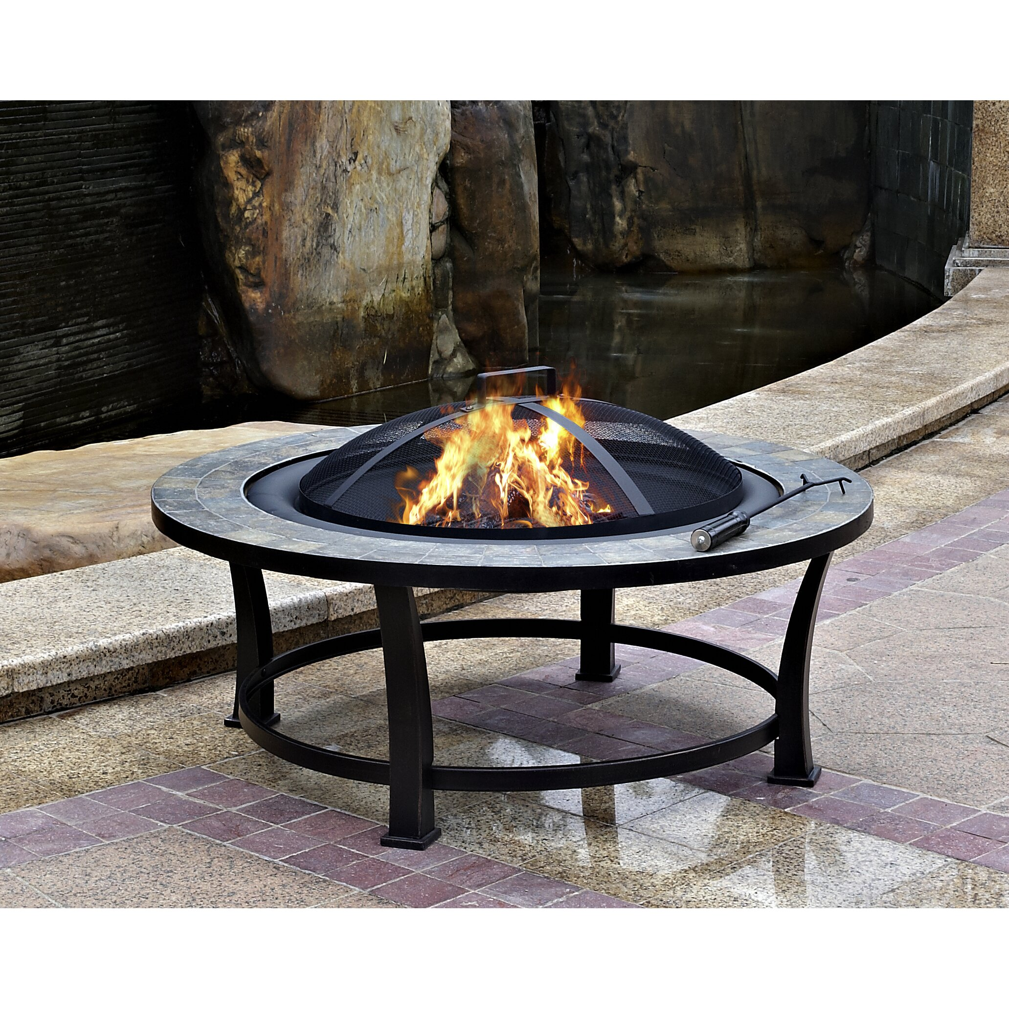 Patio Fire Pits Images: AZ Patio Heaters Wood Burning Fire Pit & Reviews