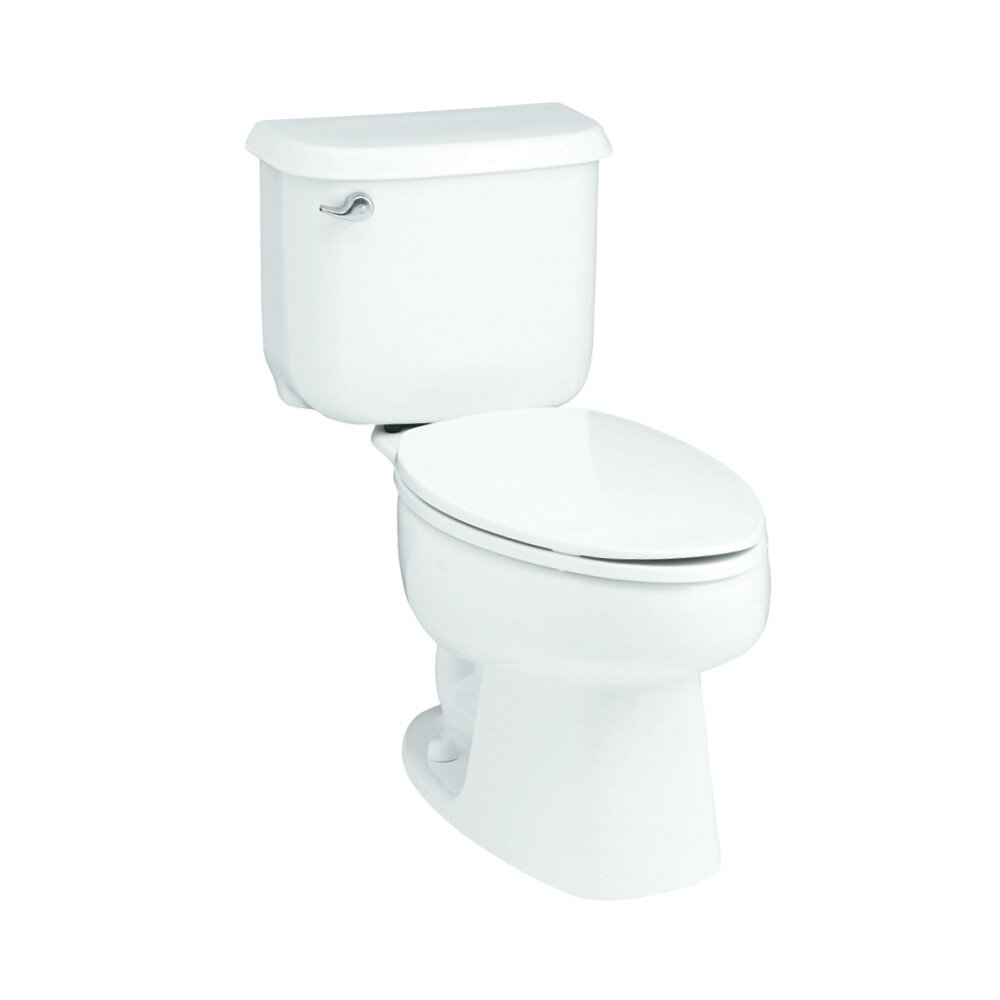 10 inch rough in toilet - Sterling By Kohler Windham 10 Quot Rough In 1 6 Gpf Elongated 2 Piece Toilet