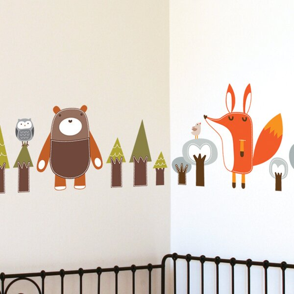 how to put up a backsplash in the kitchen piccolo forest friends wall decal amp reviews allmodern 9929