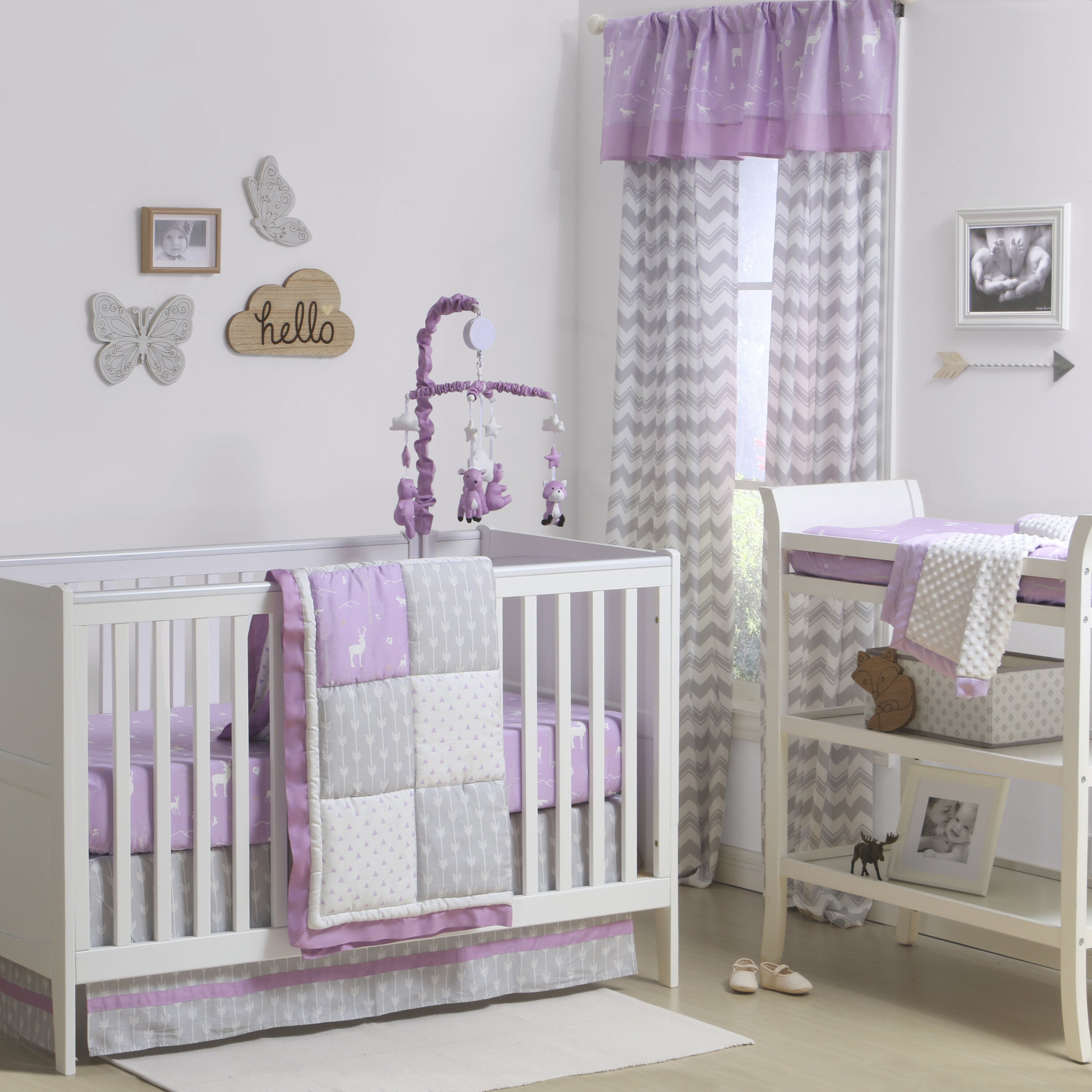 Crib for sale halifax - The Peanut Shell Wild And Free Patchwork 4 Piece Crib Bedding Set